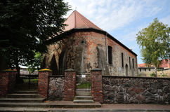 Holy Trinity Church in Czaplinek. [t͡ʂaplʲinɛk] (German: Tempelburg) in Western Pomerania in Poland. The building was erected at the turn of the fourteenth Stock Photos