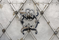 Holy Trinity Church door closeup in Salzburg, Austria Royalty Free Stock Photos