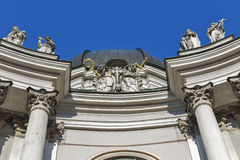 Holy Trinity Church facade in Salzburg, Austria Royalty Free Stock Images
