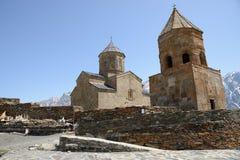 Holy Trinity Church, Kazbegi, Georgia Royalty Free Stock Photos