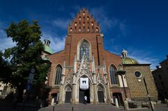 Holy Trinity Church in Krakow Stock Images