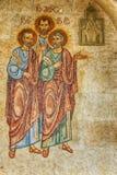 Holy Trinity Church mosaic old Georgia Caucasus Royalty Free Stock Photo