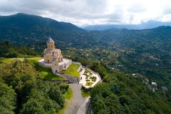 The Holy Trinity Church near Batumi. Georgia royalty free stock photo