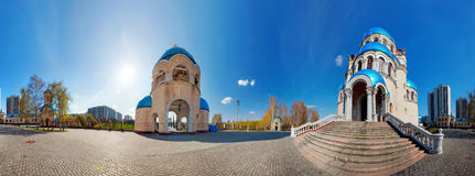 Holy Trinity Church panorama Royalty Free Stock Images
