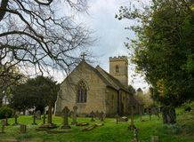 Octavia Hill burial place. Holy Trinity Church, Crockham. The Holy Trinity Church is a relatively new one, built in 1842 in the tiny hamlet of  Crockham Hill in royalty free stock photos