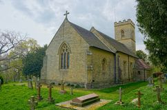 Crockham Hill, Kent, UK. Octavia Hill burial place. Holy Trinity Church. The Holy Trinity Church is a relatively new one, built in 1842 in the tiny Kent hamlet royalty free stock image