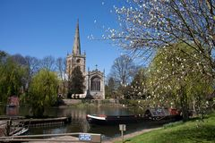 Holy Trinity Church and the River Avon Stock Photography