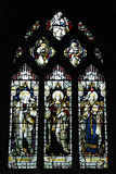 Holy Trinity Church, Stratford. Upon-Avon stained glass windows royalty free stock photos