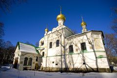 The Holy Trinity Church tomb Sokolniki Moscow the Golden dome Royalty Free Stock Photo