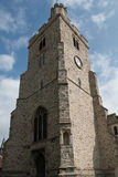 Holy Trinity Church Tower, Rayleigh. The white stone tower of the Church of the Holy Trinity, Rayleigh, Essex, England, shines like a beacon in the sunshine Stock Photography