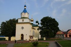 Holy Trinity Church in the village of Mir. Belarus Stock Photos