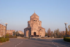 The Holy Trinity Church, Yerevan. Holy Trinity Church is an Armenian Apostolic Church constructed in 2003. It is modeled after the 7th century Zvartnots Royalty Free Stock Photo