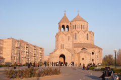 The Holy Trinity Church, Yerevan. Holy Trinity Church is an Armenian Apostolic Church constructed in 2003. It is modeled after the 7th century Zvartnots Royalty Free Stock Photography