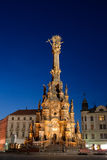 Holy Trinity Column. (inscribe in UNESCO heritage list) in city Olomouc on Upper square at Czech republic royalty free stock photo