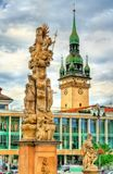 Holy trinity column in Brno, Czech Republic. Holy trinity column in Brno - Moravia, Czech Republic Stock Images