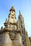 Holy Trinity Column, Buda Castle, Budapest, Hungary.  Stock Image