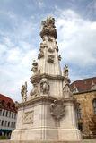 Holy Trinity Column in Budapest Stock Images