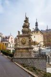 Holy Trinity Column, Karlovy Vary Royalty Free Stock Photography
