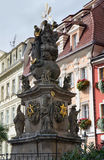 Holy Trinity Column in Karlovy Vary, Czech Republic. Stock Image
