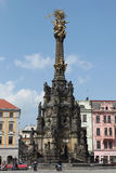 Holy Trinity Column in Olomouc, Czech Republic. Stock Images
