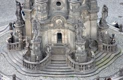 The Holy Trinity Column in Olomouc (detail) Stock Image