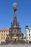 Holy Trinity Column,Olomouc. Holy Trinity Column, a famous Baroque plague column listed as the UNESCO world heritage site, in Olomouc, Czech Republic Royalty Free Stock Photo