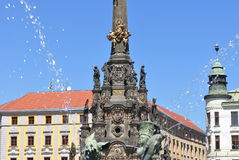 Holy Trinity Column,Olomouc. Holy Trinity Column, a famous Baroque plague column listed as the UNESCO world heritage site, in Olomouc, Czech Republic Stock Image
