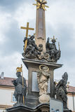 Holy Trinity Column Plague Column at Lesser Town Square. Prague, Czech Republic. Holy Trinity Column was designed by Giovanni Ba Royalty Free Stock Photography