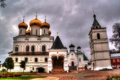 The Holy Trinity Ipatiev Monastery in Kostroma, Russia. The Holy Trinity Ipatiev Monastery is a male monastery in the western part of Kostroma on the bank of the stock photo