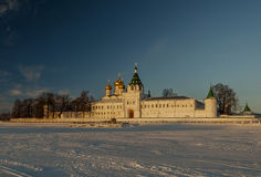 Holy Trinity Ipatiev Monastery at sunrise. Royalty Free Stock Images