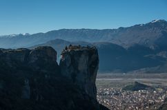 Holy Trinity Monastery Agia Trias at the complex of Meteora mo royalty free stock images