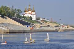 Holy Trinity Monastery. Architecture monument, Tyumen, Russia. Stock Photo
