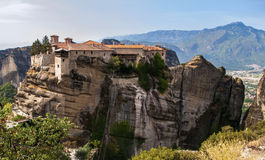 Holy Trinity Monastery in Meteora rocks, meaning s Royalty Free Stock Image