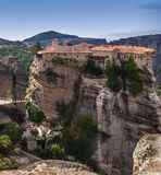 Holy Trinity Monastery in Meteora rocks, meaning s Royalty Free Stock Images