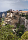 Holy Trinity Monastery in Meteora rocks, meaning s Stock Photography