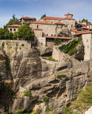 Holy Trinity Monastery in Meteora rocks, meaning s Stock Images