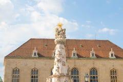 Budapest/Hungary-09.09.18 : Budapest Holy Trinity Column Matthias Church stock photos