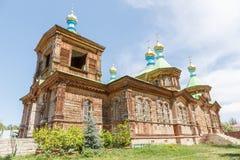 Holy Trinity Orthodox Church. Karakol, Issyk Kul region, Kyrgyzs Stock Photos