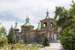 Holy Trinity Orthodox Church. Karakol, Issyk Kul region, Kyrgyzs Stock Image