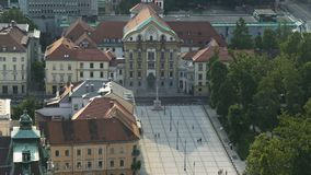 Holy Trinity Parish Church in Ljubljana, religious sightseeing tour to Slovenia. Stock footage stock footage