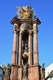 The Holy Trinity plague column in Banska Stiavnica, Slovakia. Royalty Free Stock Photos