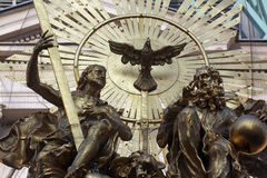 Holy Trinity. Plague Monument in Vienna, Austria Stock Images
