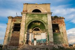 Holy Trinity, ruined church built in 1849. stock image