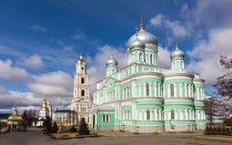 Holy Trinity-Saint Seraphim-Diveyevo Monastery. Nizhny Novgorod. Trinity Cathedral and bell tower of Holy Trinity-Saint Seraphim-Diveyevo Monastery. Nizhny Royalty Free Stock Images