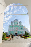 Holy Trinity Seraphim-Diveevo nunnery, view of Trinity Cathedral Stock Photography