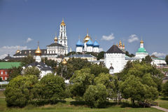 Holy Trinity Sergius Lavra. Sergiev Posad. Russia. Trinity-Sergius Lavra, the largest Russian  monastery,founded in the middle of the 14th century by Sergius Royalty Free Stock Photos