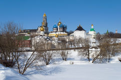 Trinity Sergius Lavra, winter time Royalty Free Stock Photos