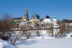Trinity Sergius Lavra, winter time Royalty Free Stock Photos
