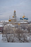 Holy Trinity Sergius Lavra in winter Stock Images