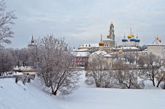 Holy Trinity Sergius Lavra in winter Royalty Free Stock Photography